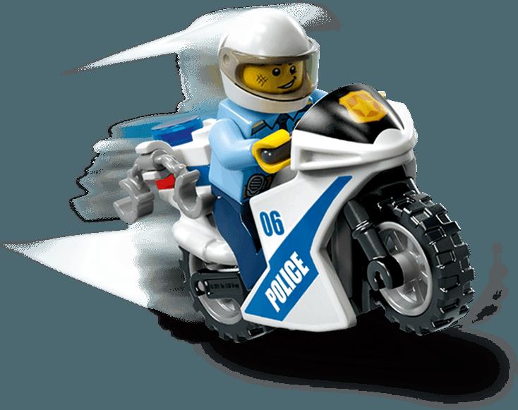Polizist auf Motorrad